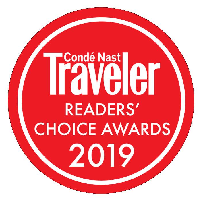 《Condé Nast Traveler》2019读者之选欧洲最佳酒店第三名